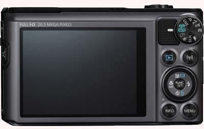 صفحه نمایش canon sx720
