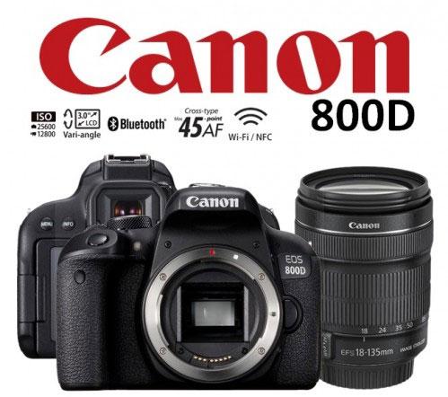 دوربین کانن 800D با لنز 18-135
