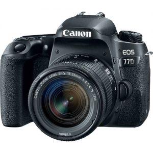 دوربین عکاسی کانن مدل 77D به همراه لنز 18-55