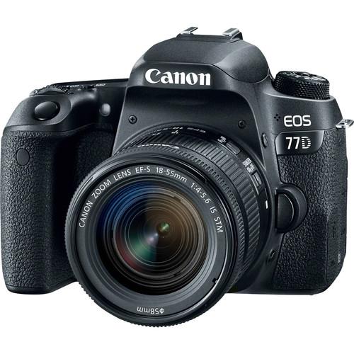 دوربین عکاسی کانن مدل EOS 77D به همراه لنز 18-55