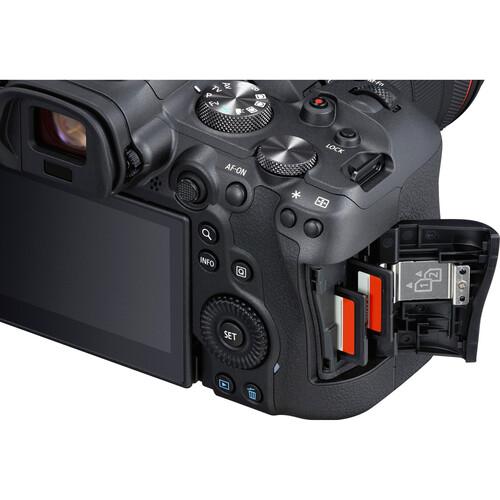 اسلات کارت حافظه دوربین بدون آینه کانن Canon EOS R6 Mirrorless Camera Body